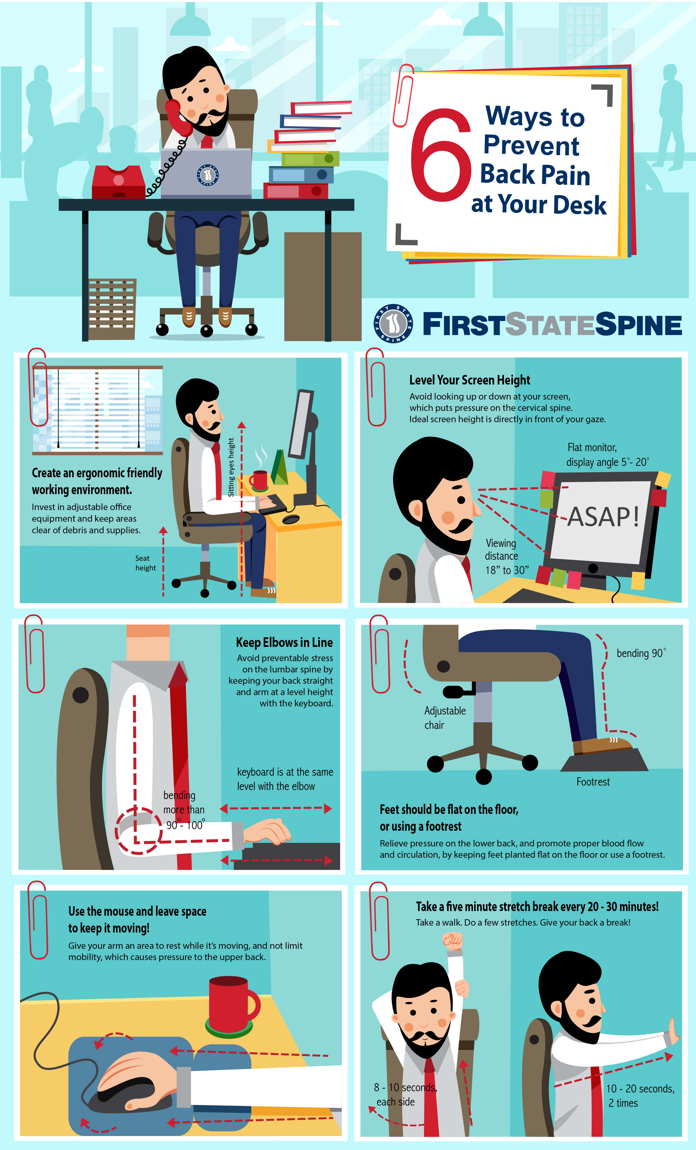 First State Spine - 6 Ways to Prevent Office Back Pain