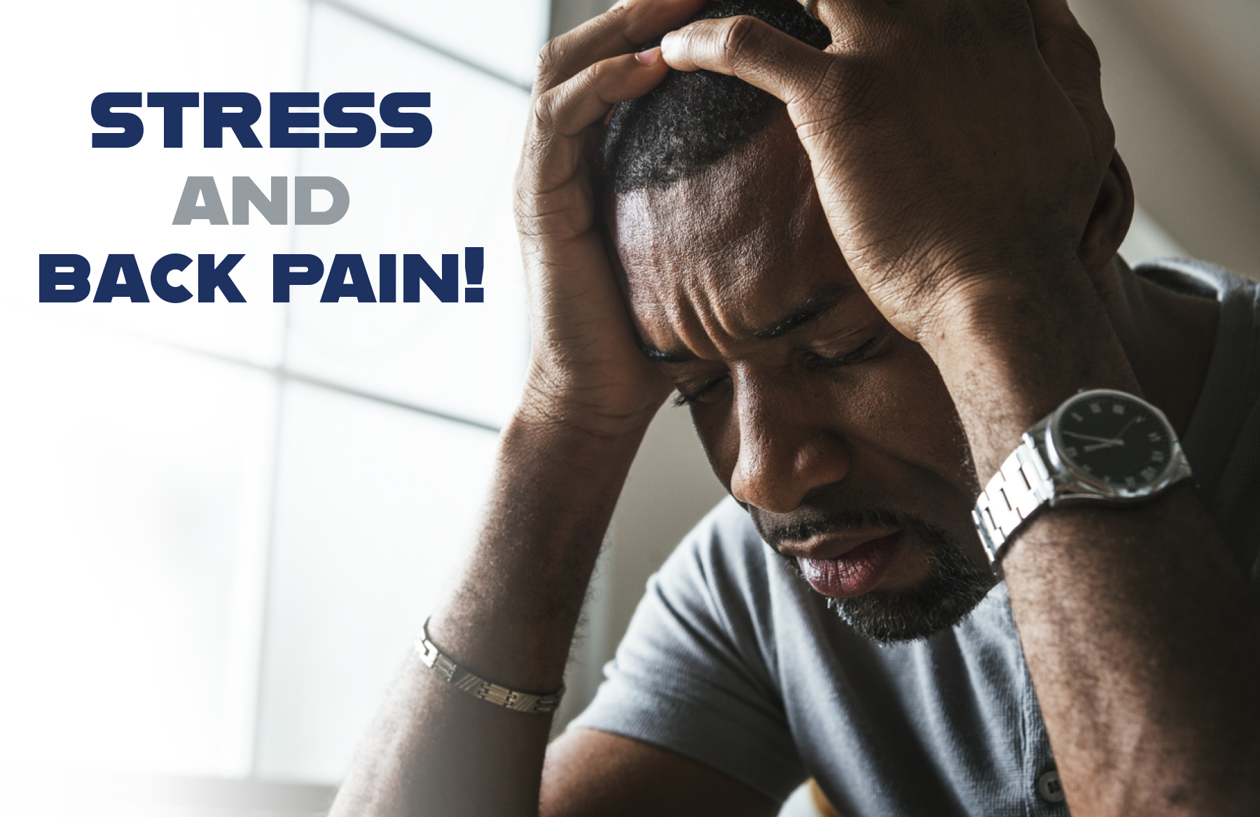 Learn tips from First State Spine to manage your stress and reduce your pain!