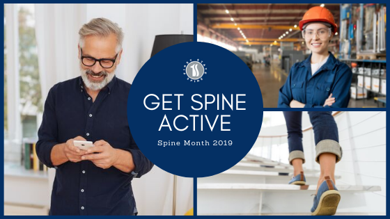 "October is Spinal Health Month! All next month First State Spine wants to challenge you to ""Get Spine Active"" to maintain flexibility and prevent back pain."