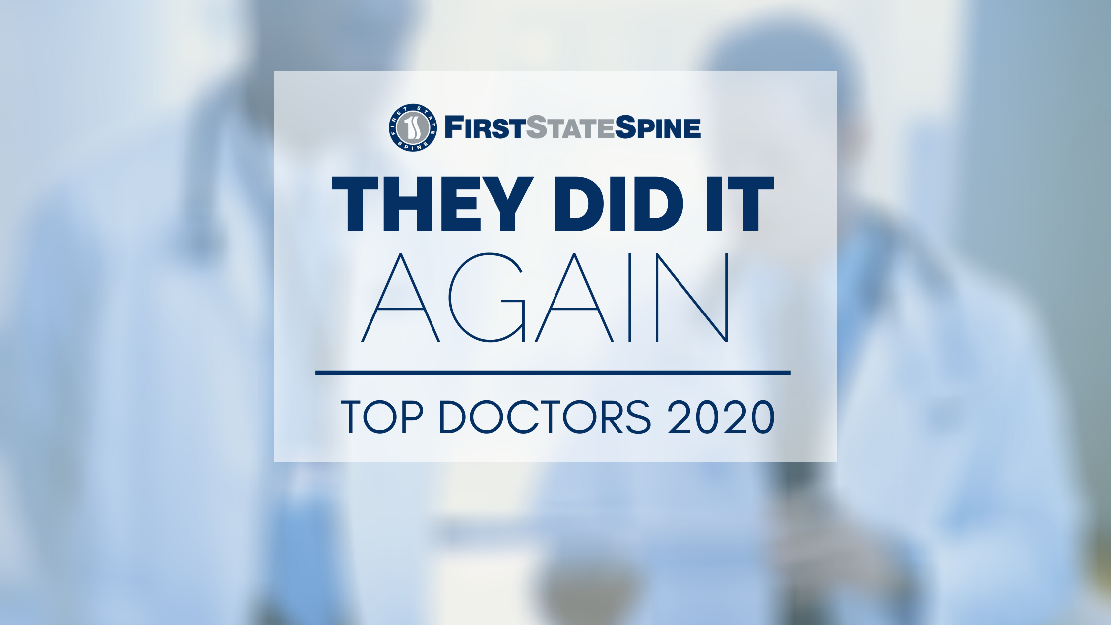 Delaware Today Top Docs 2020