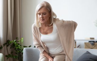woman with sciatic pain