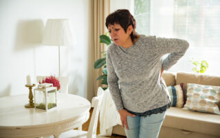 cell-based therapy for woman with lower back pain